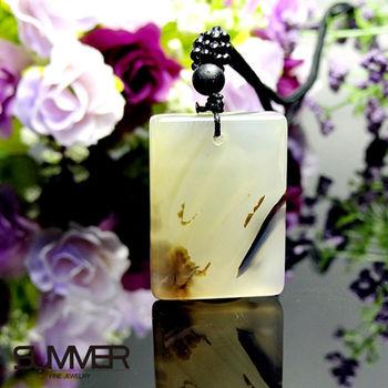【SUMMER寶石】天然珍稀水墨玉髓項鍊(7B-8)