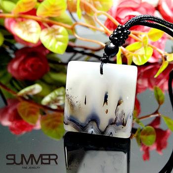 【SUMMER寶石】天然珍稀水墨玉髓項鍊(7B-3)