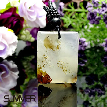 【SUMMER寶石】天然珍稀水墨玉髓項鍊(7B-17)