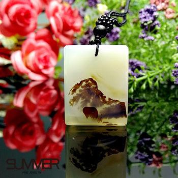 【SUMMER寶石】天然珍稀水墨玉髓項鍊(7B-20)