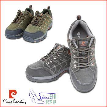 【ShoesClub】【167-PDL7291】皮爾卡登Pierre Cardin 反毛麂皮復古質感運動鞋.2色 灰/棕 (男鞋)