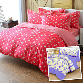 【星星點點】單人被套床包1+1超值組(台灣製造)