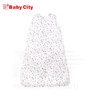 娃娃城BabyCity-超柔紗布寶寶防踢睡袍-粉(小花)