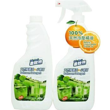 【家得適】台灣柔軟熊 天然檸檬油+小蘇打/600ml浴室清潔劑(1+1 )x3組入