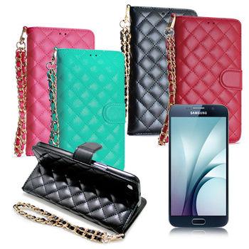 X mart Samsung Galaxy S7 守候甜心菱格紋書本皮套