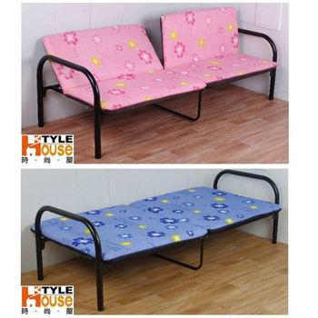 【時尚屋】坐臥兩用鋼管沙發床BU010