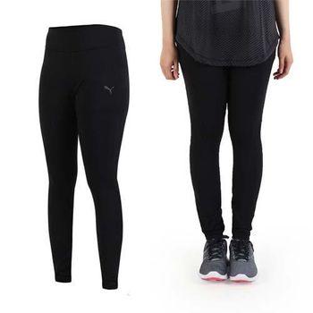 【PUMA】女訓練系列全長緊身長褲-慢跑 路跑 健身 黑銀