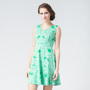 IFOREST 清秀V領修身洋裝(3色)16026