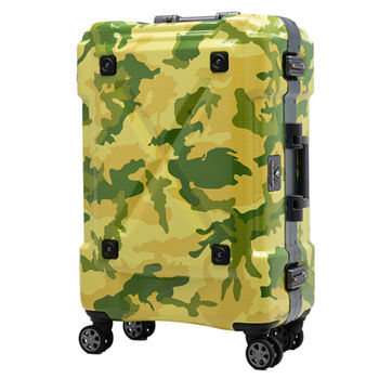 日本 LEGEND WALKER 6302-69-28吋 鋁框密碼鎖輕量行李箱 迷彩