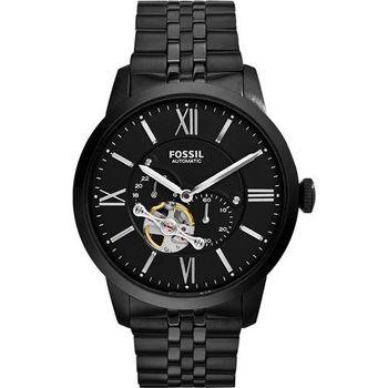 FOSSIL Townsman 城區探索機械腕錶-黑/44mm ME3062