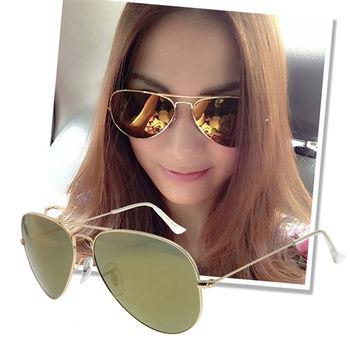 【Ray Ban】經典雷朋AVIATOR金色金框太陽眼鏡(RB3025 W3276)