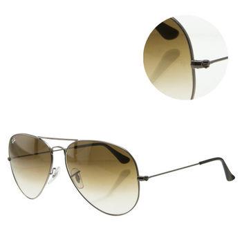 【Ray Ban】經典飛官褐色銀框太陽眼鏡-大版(RB3025 004/51 62)