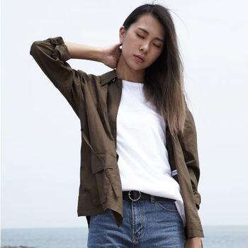 【DYC】中性時尚風格 - 時裝週熱門單品 日式和風作務衣罩衫 ( 軍綠 ) S / M