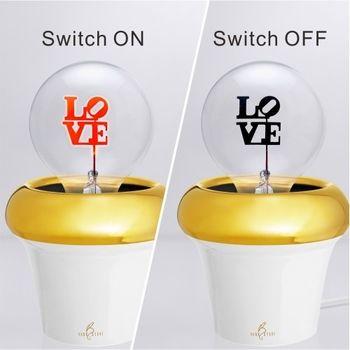 DarkSteve「演活生命」 設計師燈泡 - Love球泡燈 Edison-Style 愛迪生燈泡: 1 個 (純燈泡)