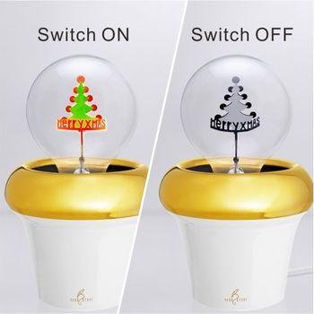DarkSteve「演活生命」 英倫風 聖誕快樂球泡燈 Edison-Style 愛迪生燈泡: 1 個 (純燈泡)