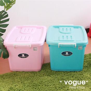 【vogue】C600彩瓷滑輪整理箱M-50L(3入)