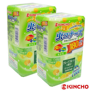 【日本金鳥】葡萄柚液體防蟲180日(兼消臭)/2入
