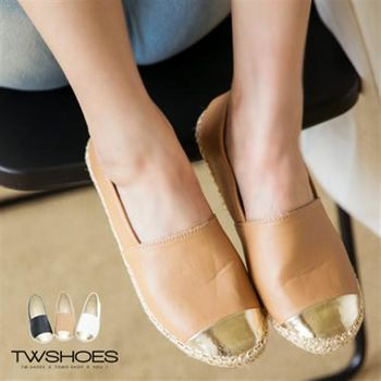【TOMO】《韓國直送》金屬拼接編織感皮質懶人鞋【K130A2303】