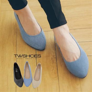 【TW Shoes】美型淺口尖頭平底包鞋【K130A2136】