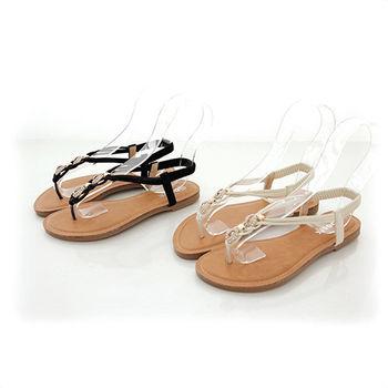 《DOOK》麻花編織水鑽夾腳平底涼鞋《DOOK》2色