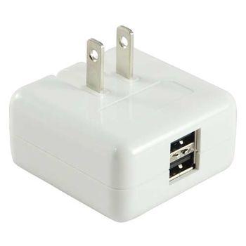 【普樂購 PLUGO 】 旅行用USB 充電器2A(USB031-WH)