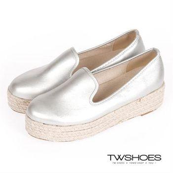 【TOMO】麻花編織厚底懶人鞋【K160I2469】