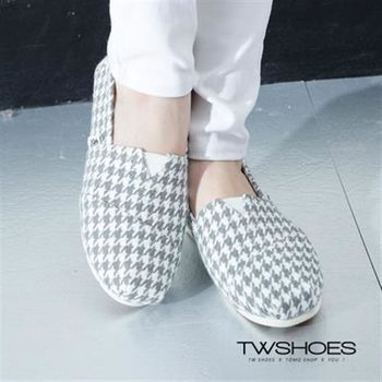【TOMO】經典千鳥格休閒懶人鞋‧2色【K160A2440】