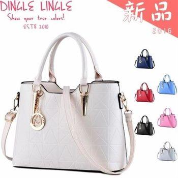 Dingle - 韓版甜美幾何壓紋手提包*7色