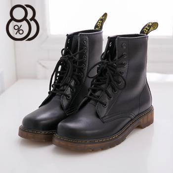 【88%】日系8孔高質感全牛皮超耐磨透明牛津底 馬汀靴 軍靴 馬丁鞋 情侶鞋 3色