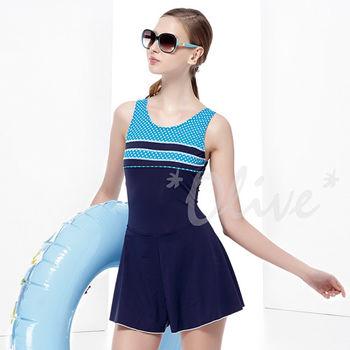 【聖手品牌】簡約圓點風格時尚連身褲裙泳裝 NO.A88413 (現貨+預購)