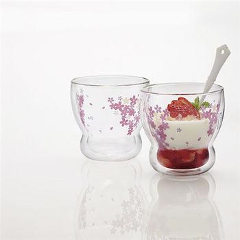 櫻花 雙層耐熱玻璃杯禮盒組 / 水杯 果汁杯