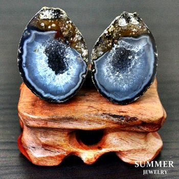 【SUMMER寶石】《愛情石》雙胞胎瑪瑙聚寶盆一對73.25g(C8-24)