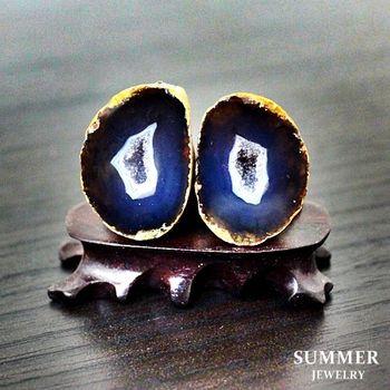 【SUMMER寶石】《愛情石》雙胞胎瑪瑙聚寶盆一對24.05g(C8-14)
