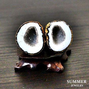【SUMMER寶石】《愛情石》雙胞胎瑪瑙聚寶盆一對16.10g(C8-13)