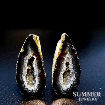 【SUMMER寶石】《愛情石》雙胞胎瑪瑙聚寶盆一對31.15g(M8-103)