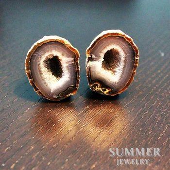 【SUMMER寶石】《愛情石》雙胞胎瑪瑙聚寶盆一對67.15g(M8-134)