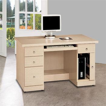 【時尚屋】[5U6]西雅圖白橡4.2尺電腦桌5U6-224-960