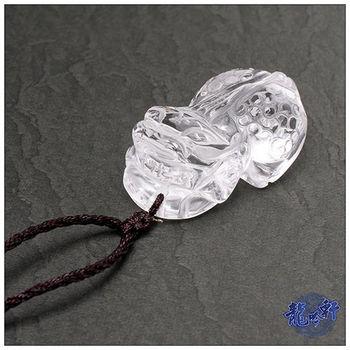 【龍吟軒】白水晶招財貔貅項鍊