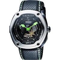 DIETRICH OT系列 生化機械鏤空腕錶 #45 黑x綠指針 #47 46mm OT