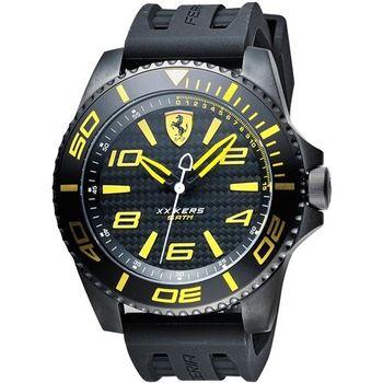 Scuderia Ferrari 法拉利 XX KERS 競速手錶-黑x黃時標/50mm 0830307