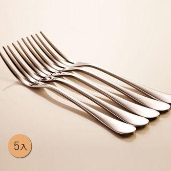 PUSH! 餐具不銹鋼叉子蛋糕叉水果沙拉叉甜品叉水果籤5入組E33