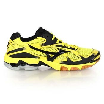 【MIZUNO】WAVE BOLT 5男排球鞋- 美津濃 羽球鞋 黃黑