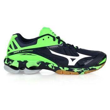 【MIZUNO】男排球鞋 LIGHTNING Z2- 羽球鞋 美津濃 深藍螢光綠