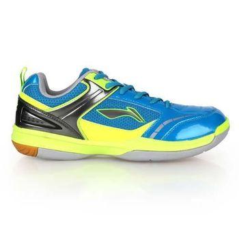 【LI-NING】男羽球專業鞋 - 羽毛球 李寧 藍螢光黃