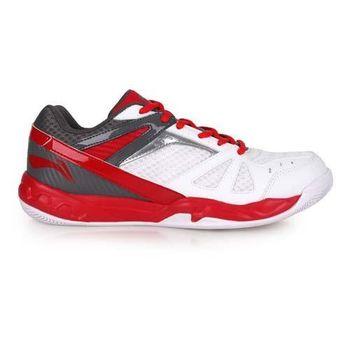 【LI-NING】男羽球專業鞋 - 羽毛球 李寧 白紅灰