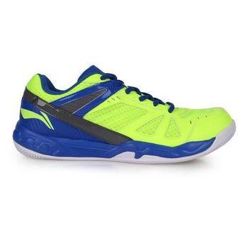 【LI-NING】男羽球專業鞋 - 羽毛球 李寧 螢光黃藍