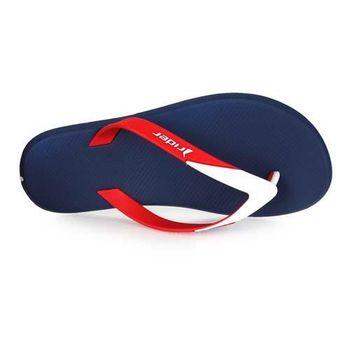 【Rider】男運動拖鞋 -人字拖鞋 夾腳拖 海邊 海灘 沙灘 游泳 丈青紅白