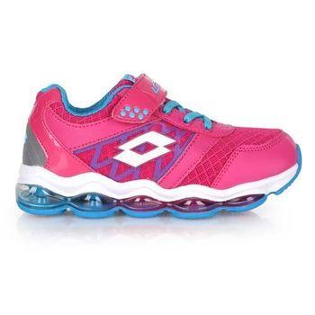 【LOTTO】男大童氣墊跑鞋 -男童 女童 童鞋 路跑 慢跑 桃紅水藍