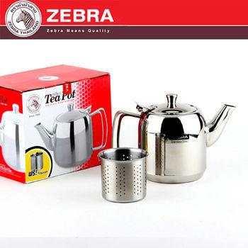 【斑馬 ZEBRA】 304不銹鋼泡茶壺(附濾網) 1L