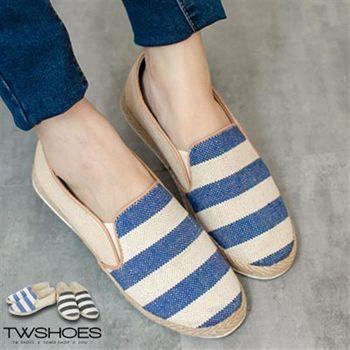【TOMO】海軍風草編條紋懶人鞋【K160A2821】